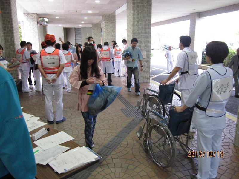 救命救急科災害訓練