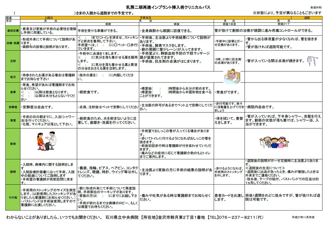 クリニカルパス|病院の取り組み|当院の紹介|石川県立中央病院